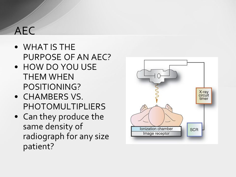 WHAT IS THE PURPOSE OF AN AEC. HOW DO YOU USE THEM WHEN POSITIONING.