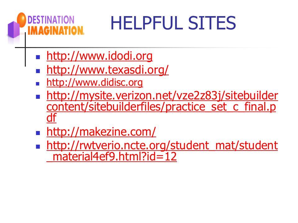 HELPFUL SITES http://www.idodi.org http://www.texasdi.org/ http://www.didisc.org http://mysite.verizon.net/vze2z83j/sitebuilder content/sitebuilderfil