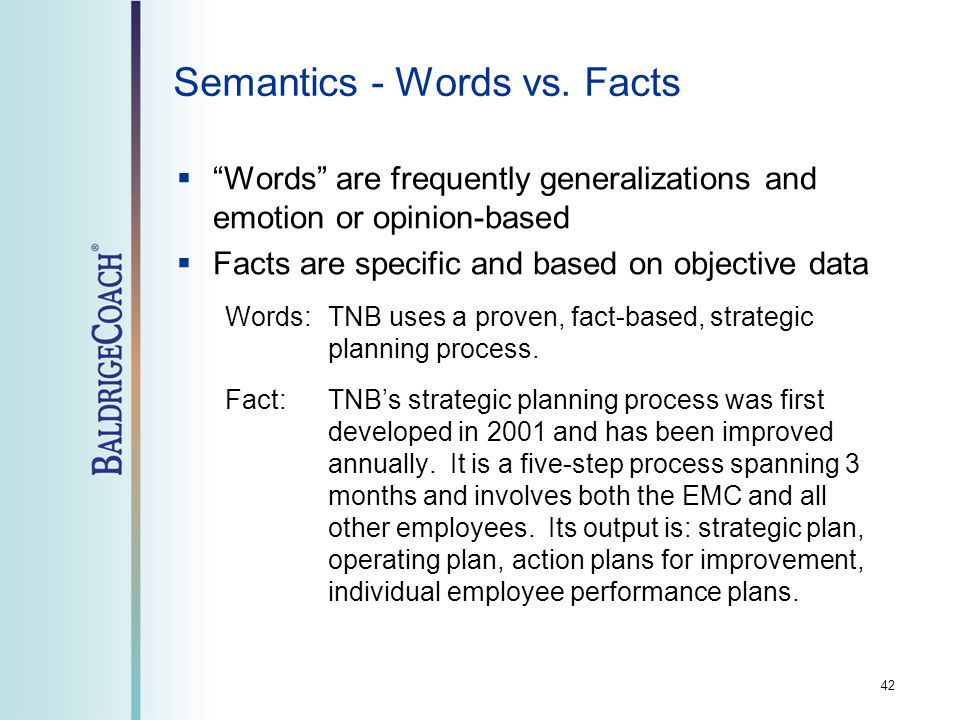 42 Semantics - Words vs.