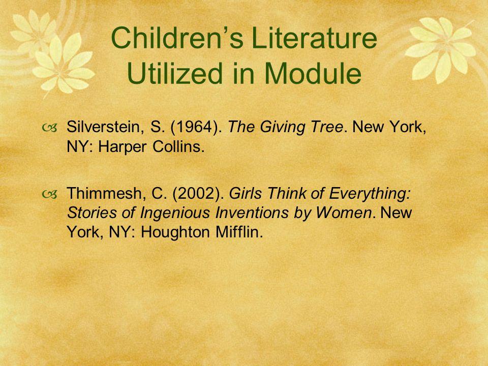 Children's Literature Utilized in Module  Silverstein, S.