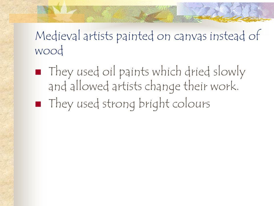 MEDIEVAL ARTISTS SHOWED MORE EMOTION ON THEIR SUBJECTS FACES. The Mona Lisa