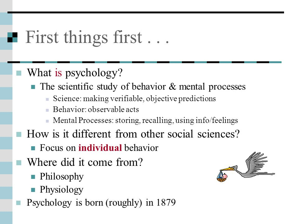 First things first...What is psychology.