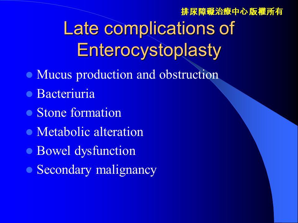 排尿障礙治療中心 版權所有 Changes of intestinal mucosa