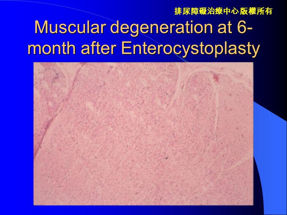 排尿障礙治療中心 版權所有 Decrease in peristaltic pressure in enterocystoplasty