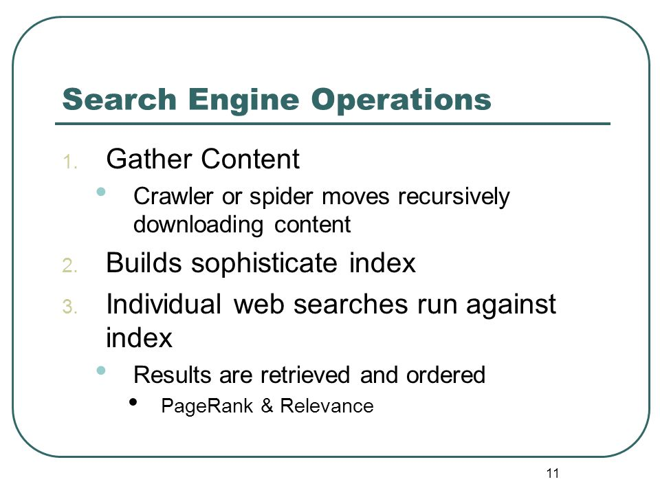 10 How Search Engines Works