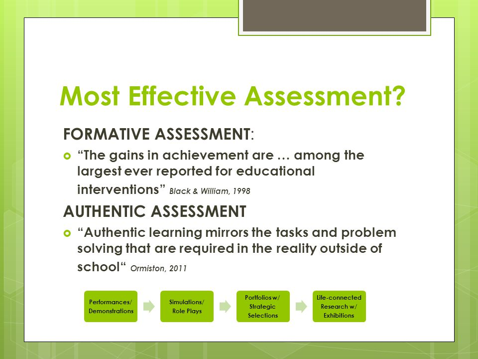 Whole Class Project Formative Assessments  Summative Assessments 