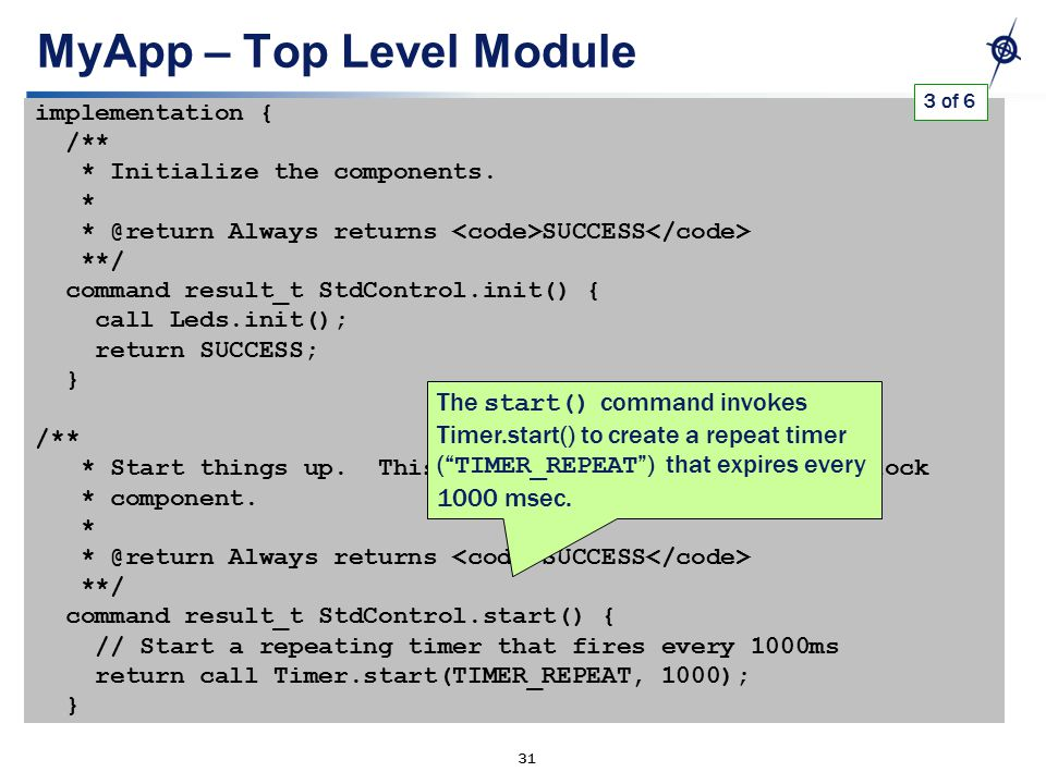 31 MyApp – Top Level Module implementation { /** * Initialize the components.