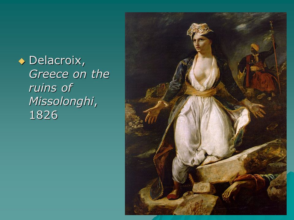 Delacroix, Greece on the ruins of Missolonghi, 1826