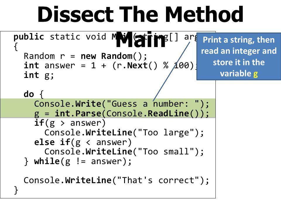 using System; namespace mecha1 { class Program { public static void Main(string[] args) { double a, t, s; Console.Write( Enter a: ); a = double.Parse(Console.ReadLine()); Console.Write( Enter t: ); t = double.Parse(Console.ReadLine()); s = a*t*t/2.0; Console.WriteLine( Distance = {0} , s); } } } First Program Output Statements