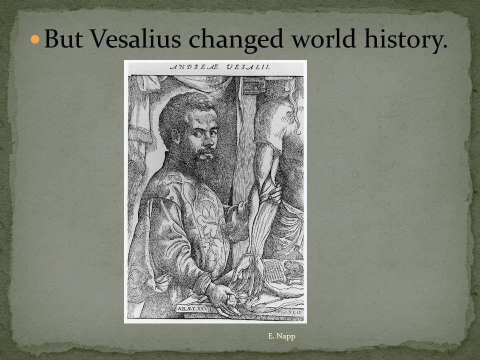 But Vesalius changed world history. E. Napp