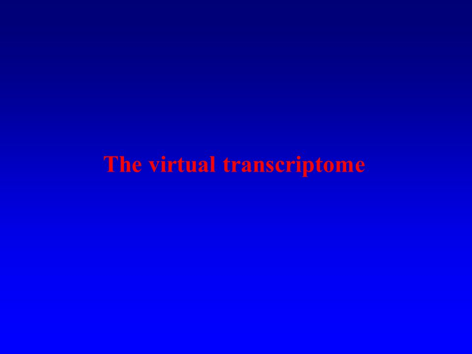 The virtual transcriptome