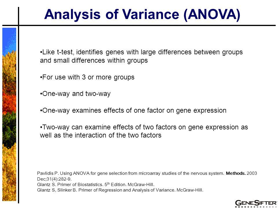 GeneSifter Workflow Examples 2 groups (apoE -/- aorta vs.