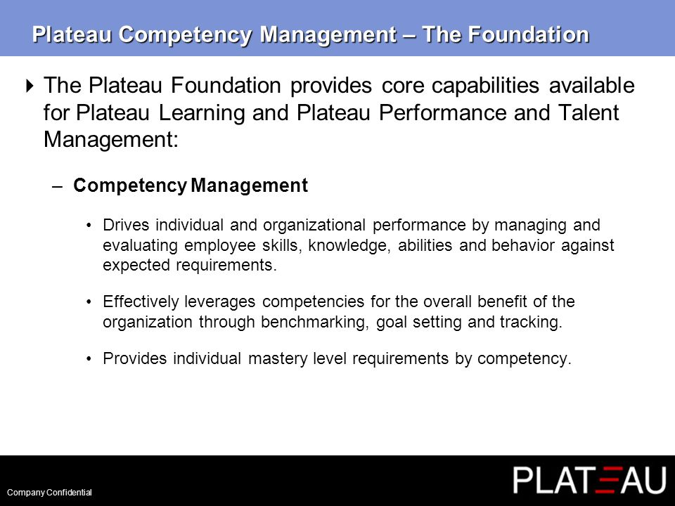 Company Confidential Competency Management – Basic Terms