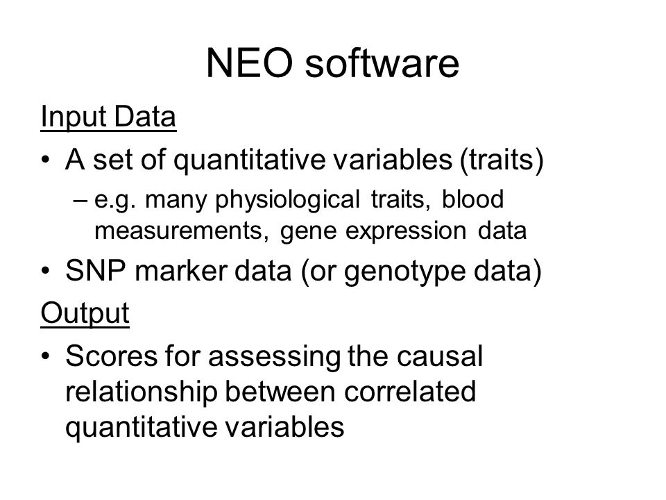 Output of the NEO software NEO spreadsheet summarizes LEO scores and provides hyperlinks to model fit logs graph of the directed network spreadsheet