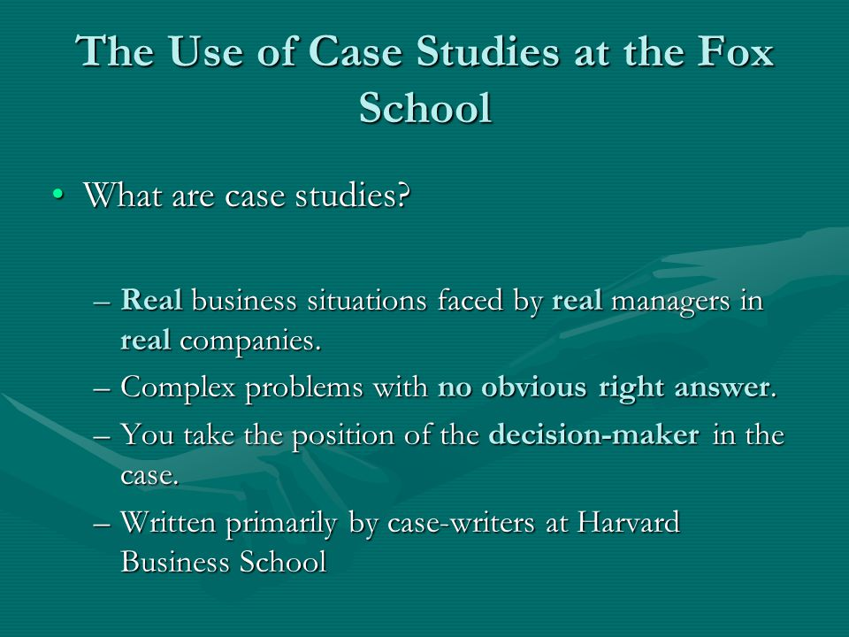 Why Do We Use Cases.