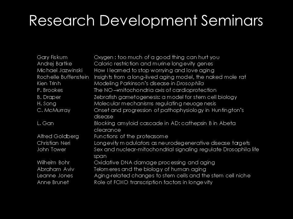 Research Development Seminars