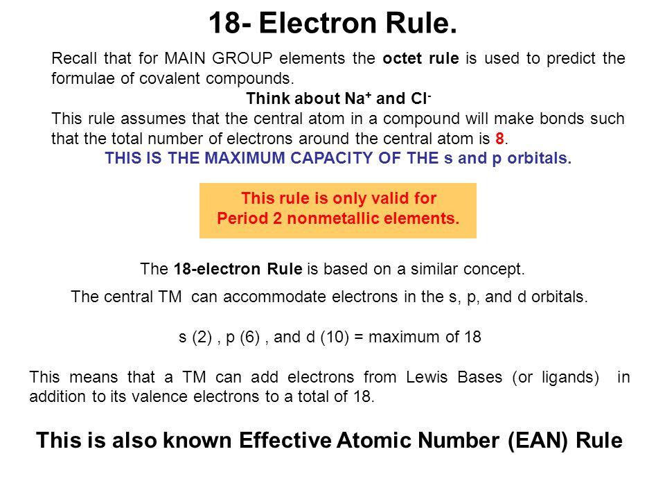 18- Electron Rule.