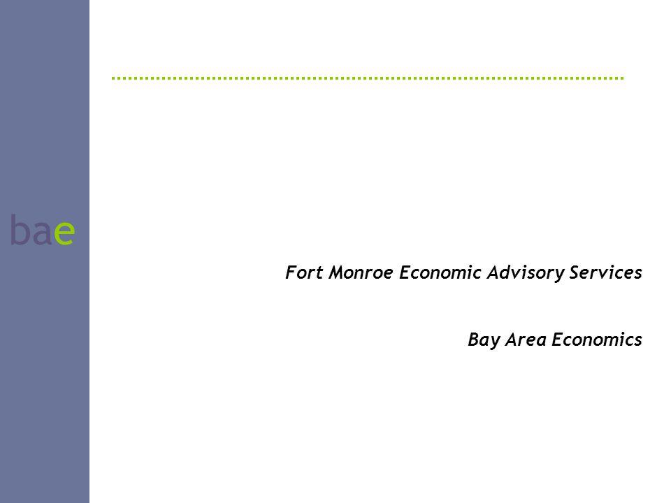 bae Fort Monroe Economic Advisory Services Bay Area Economics