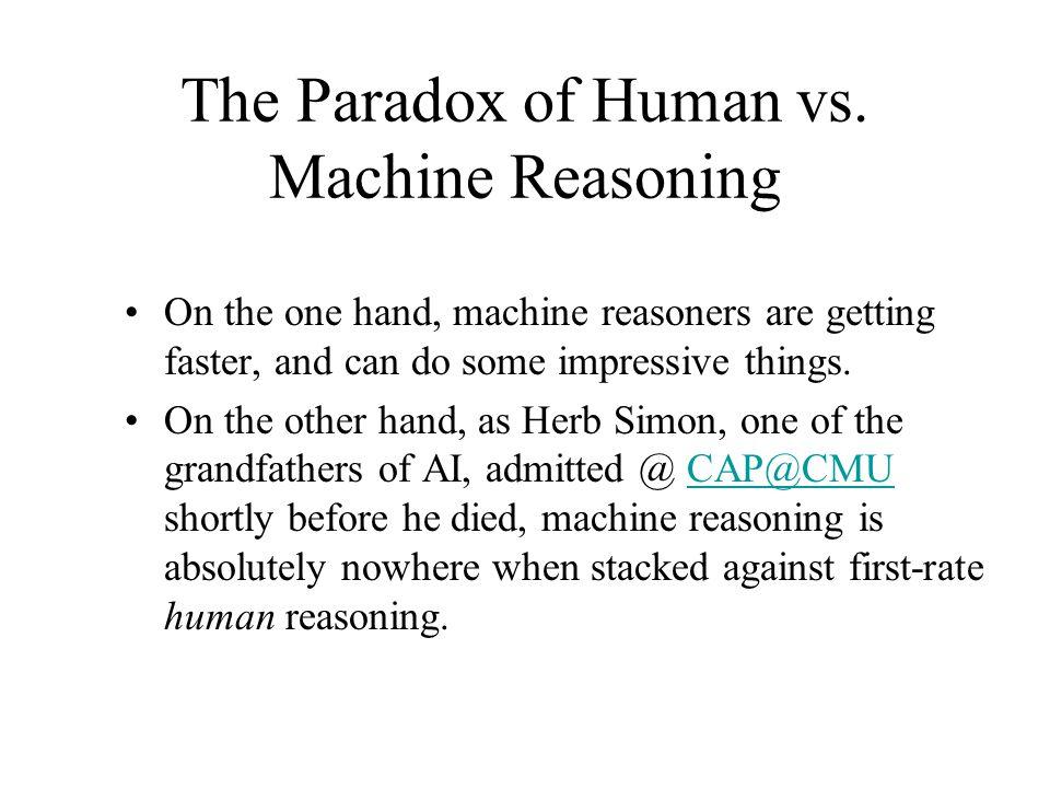 The Paradox of Human vs.