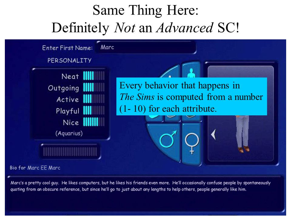 Same Thing Here: Definitely Not an Advanced SC.
