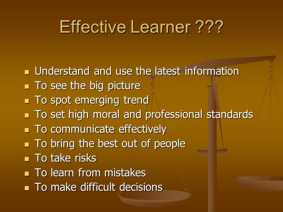 Effective Learner .