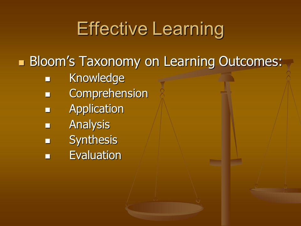 Learning Outcomes Knowledge Knowledge The ability to memorise and recall facts The ability to memorise and recall facts - What is .