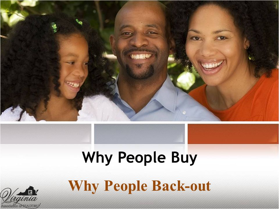 Why People Buy Why People Back-out
