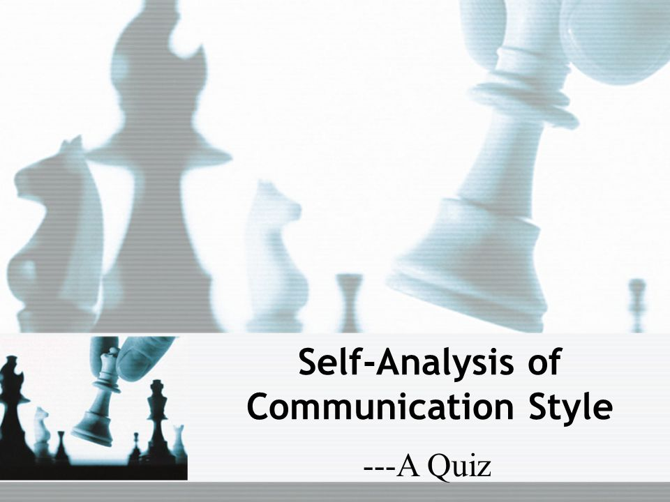 Self-Analysis of Communication Style ---A Quiz