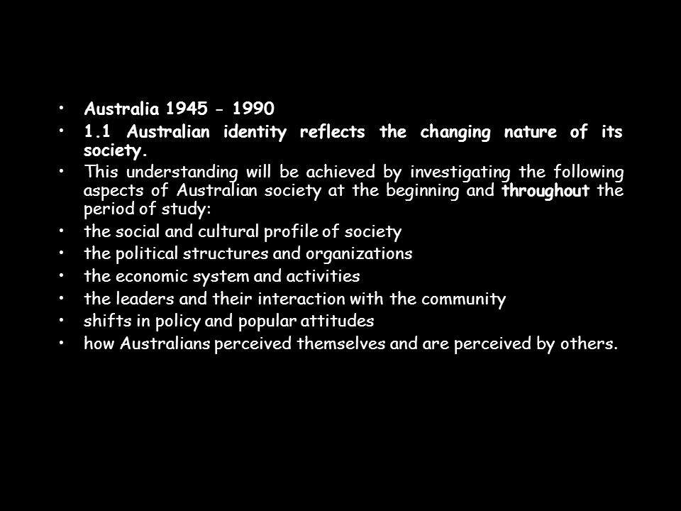 1.2Australia has been affected by its international relations.