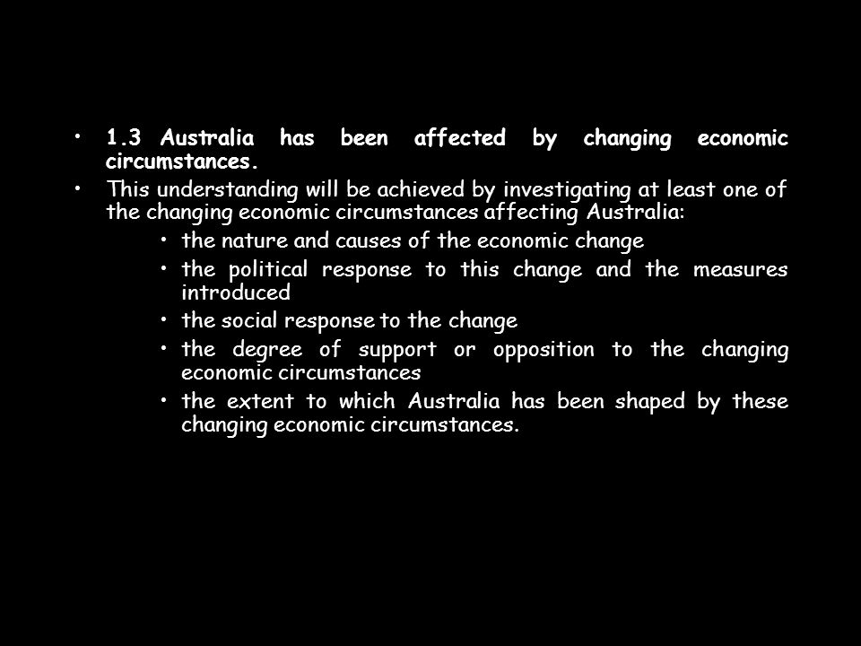 1.4Australia has been affected by political events, crises and developments.