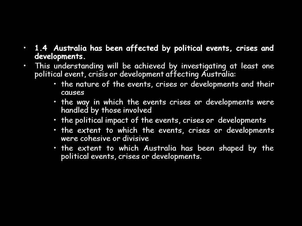 1.5Australia has been influenced by the social and cultural experiences of its people.