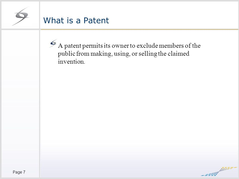 Page 8 Patentable Inventions 35 U.S.C.