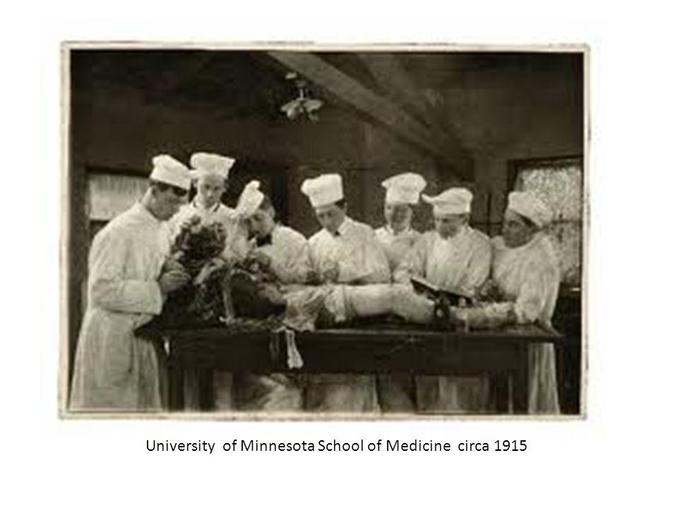 University of Minnesota School of Medicine circa 1915