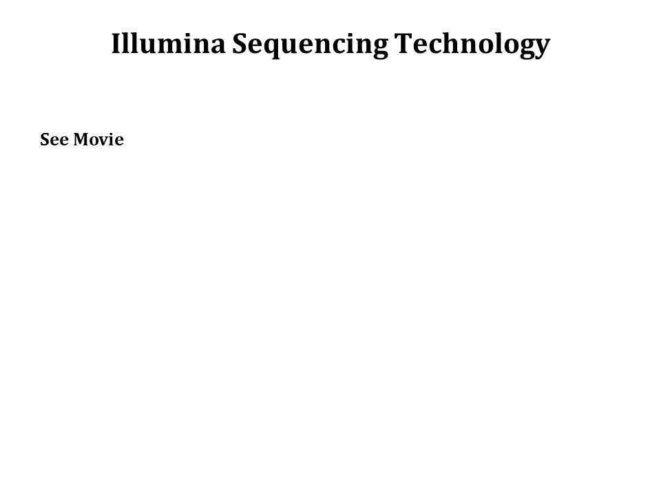 Illumina Sequencing Technology See Movie