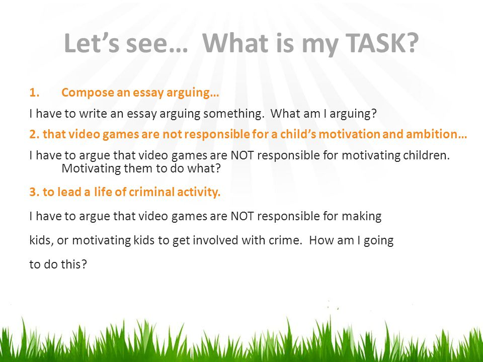 "argumentative essay video games I never really thought about gaming in such a way like this i am an avid gamer myself, and i never actually thought of myself as having an addiction to the game, but i do believe that the ""dangers of video games can be summarized into one word: addiction"" because some people do begin to develop serious addictions to video games, and some."