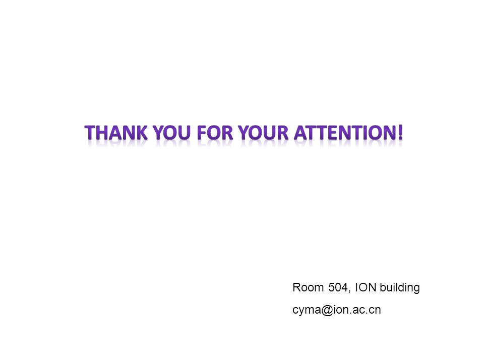 Room 504, ION building cyma@ion.ac.cn