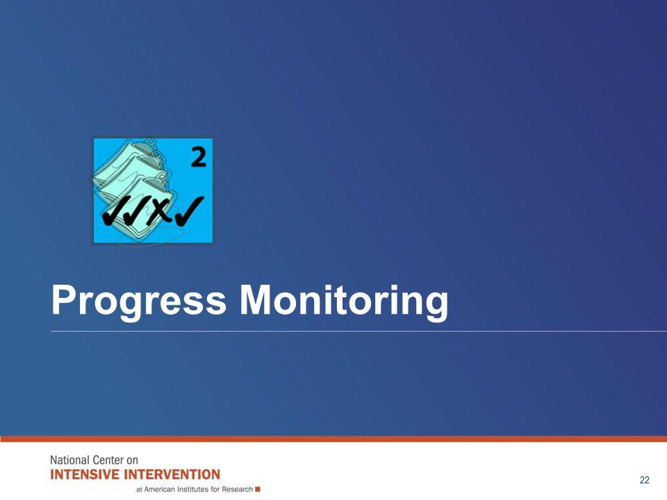 Progress Monitoring 22