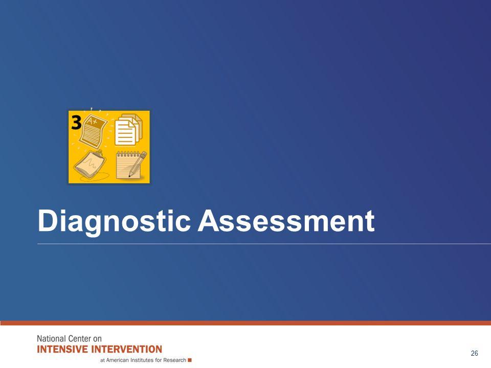 Diagnostic Assessment 26