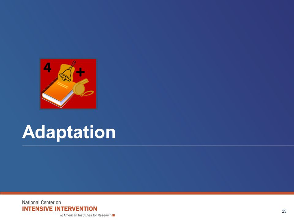 Adaptation 29