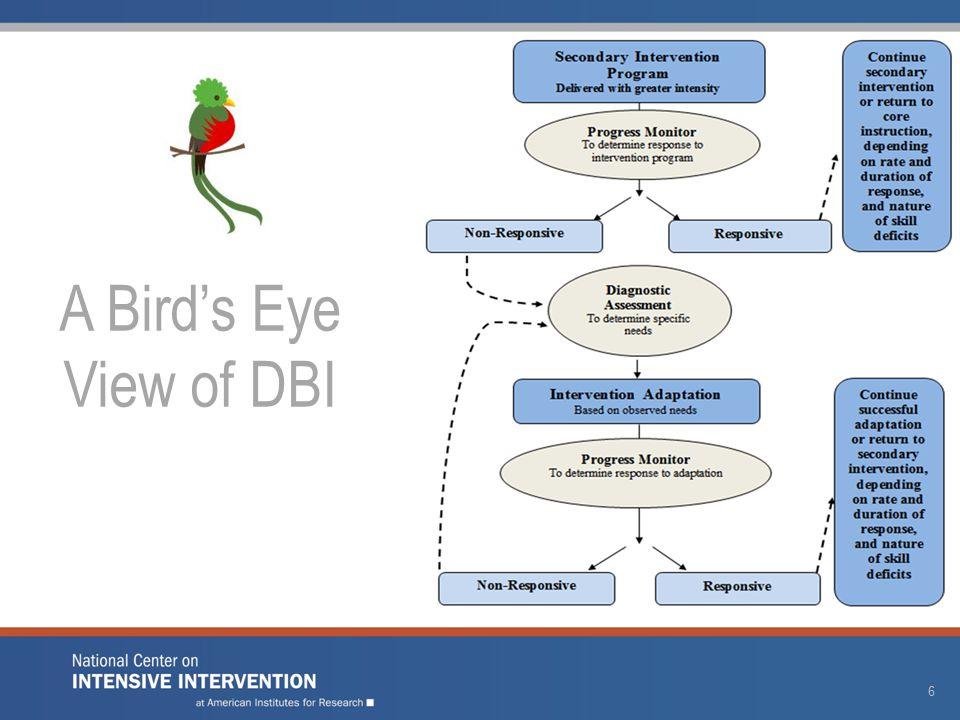 A Bird's Eye View of DBI 6