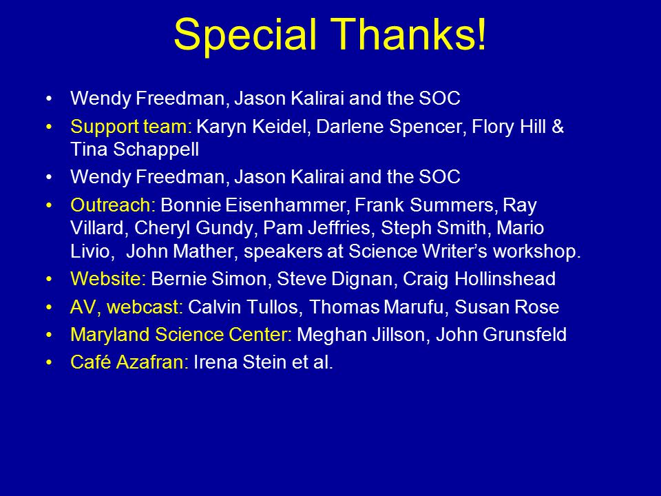 Special Thanks.