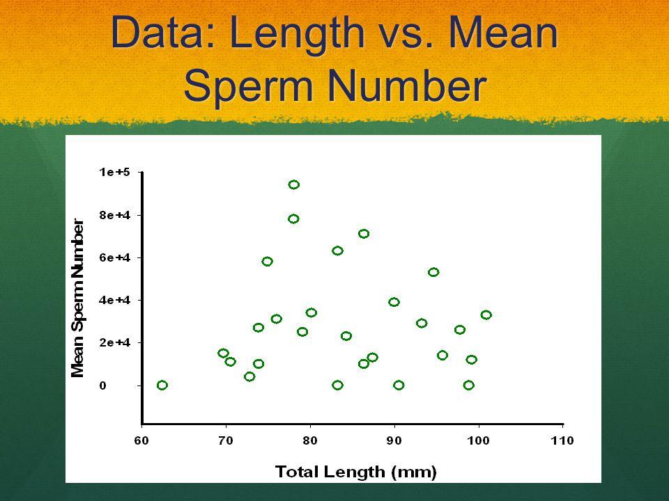 Data: Length vs. Mean Sperm Number