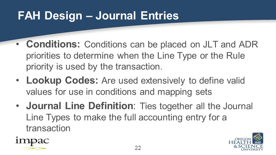 Conditions: Conditions can be placed on JLT and ADR priorities to determine when the Line Type or the Rule priority is used by the transaction.