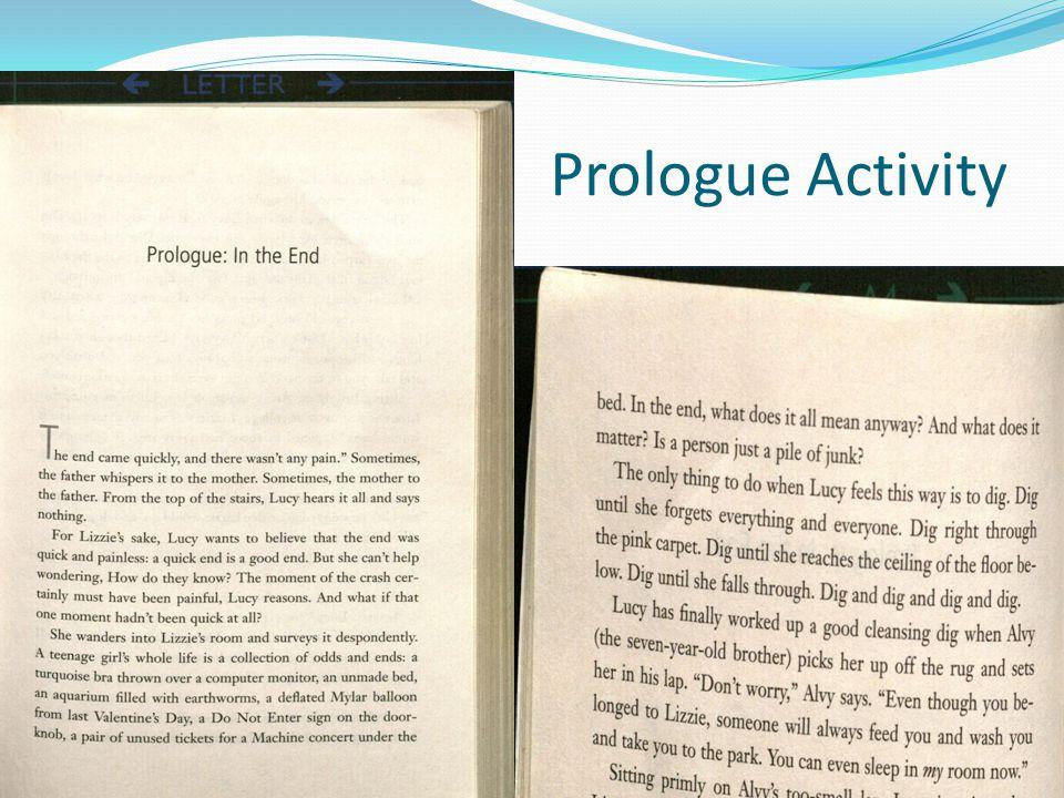 Prologue Activity