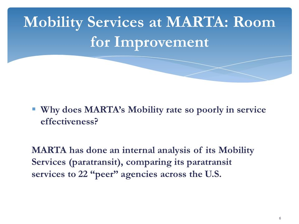  Why does MARTA's Mobility rate so poorly in service effectiveness.