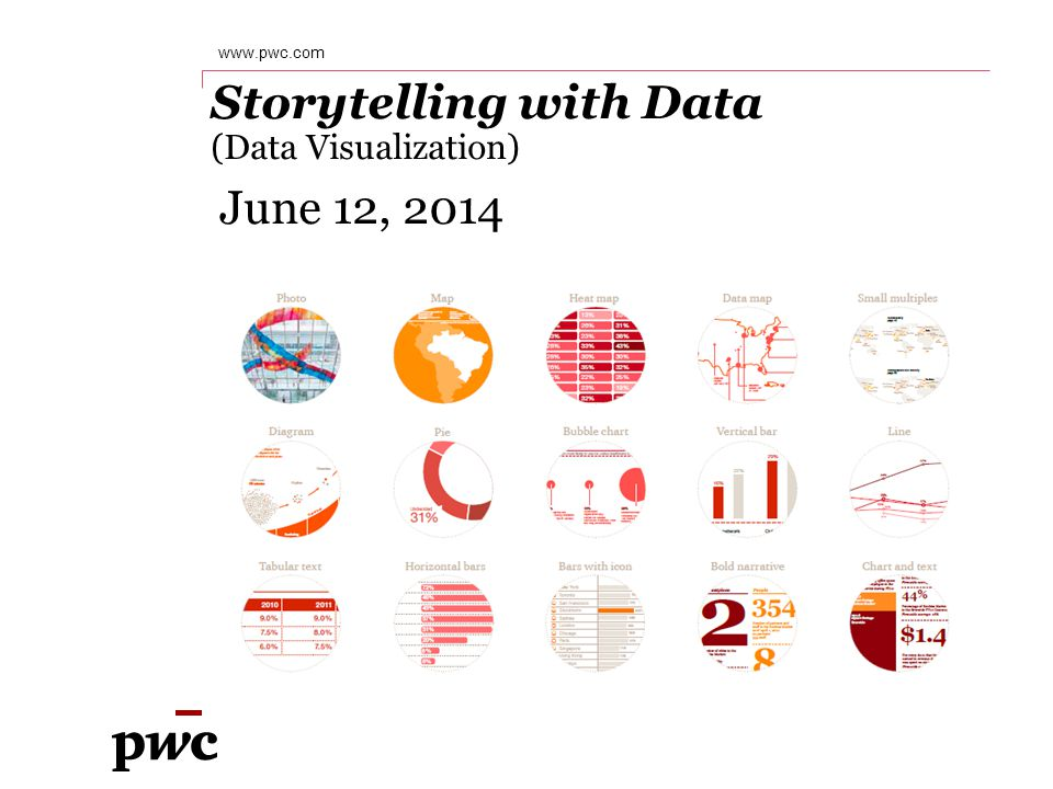 PwC Jason Josko Data Solutions, PwC 2 June 12, 2014 Over 14 years of experience helping clients transform their underlying data into actionable intelligence, focusing on large scale data analytics, visualization, reconciliation and data quality assurance.