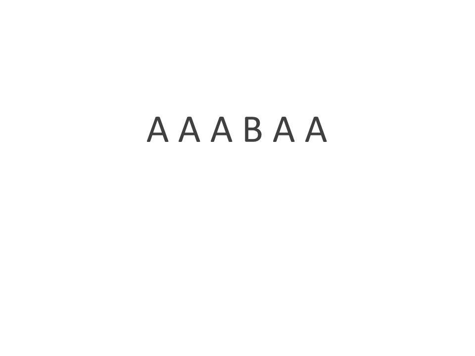 A A A B A A