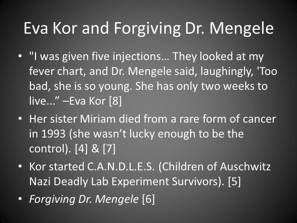 Eva Kor and Forgiving Dr.