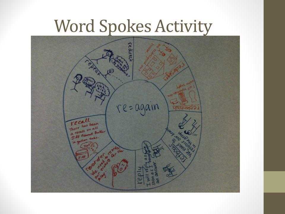 Word Spokes Activity