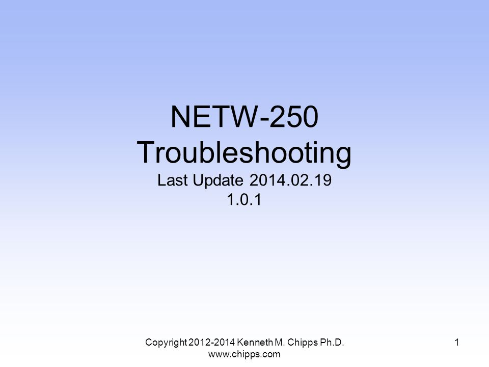 VOIP Troubleshooting Tools Some useful VOIP troubleshooting tools include –A softphone, because softphones tend to be easier to configure than hardphones, as well as providing more useful logging output –A network analyzer such as Wireshark Copyright 2012-2014 Kenneth M.